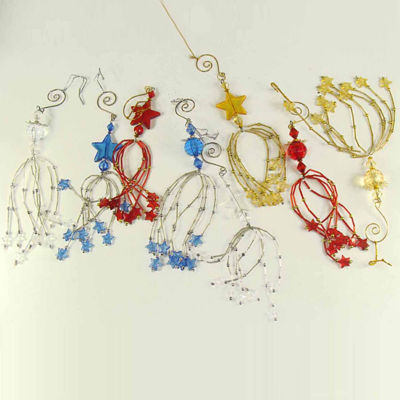 """Club Pack Of 144 Faceted Ball And Star Beaded Tassel Christmas Ornaments 9.25"""""""