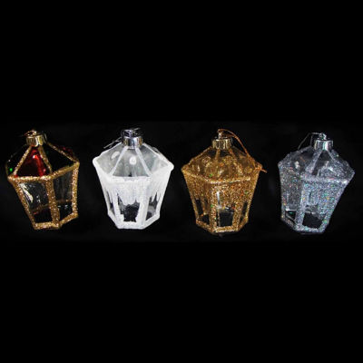 """Club Pack of 288 Victorian Inspirations Glitter Lantern Christmas Ornaments 4"""""""