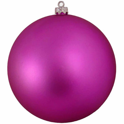 "Shatterproof Matte Pink Magenta UV Resistant Commercial Christmas Ball Ornament 6"" (150mm)"""