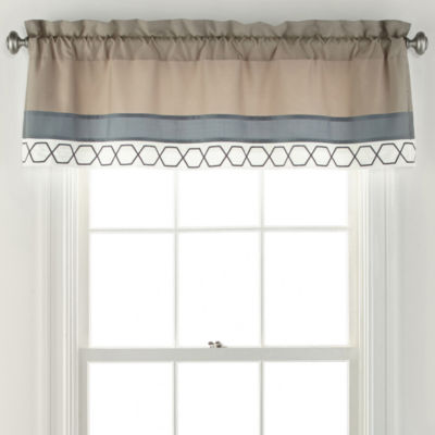 Home Expressions Larin Rod-Pocket Tailored Valance