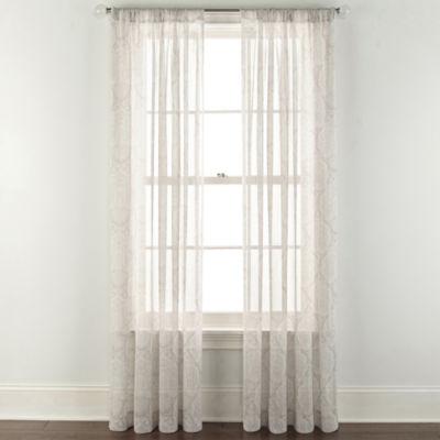 JCPenney Home Ellington Rod-Pocket Sheer Curtain Panel