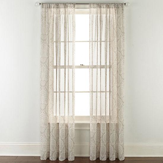 Ellington Rod Pocket Sheer Curtain Panel