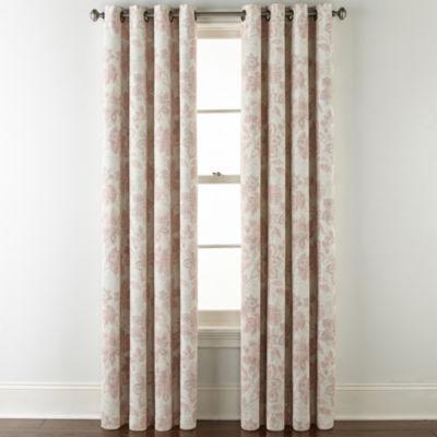 JCPenney Home Sullivan Floral Bo Blackout Grommet-Top Curtain Panel