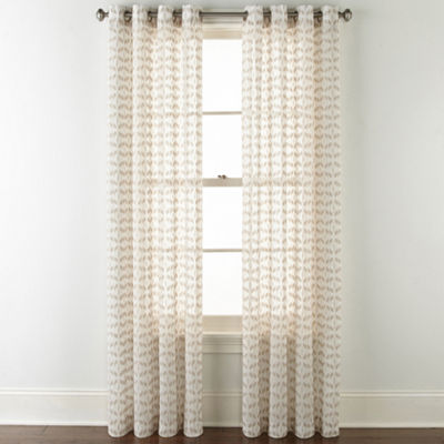JCPenney Home Rockford Grommet-Top Curtain Panel