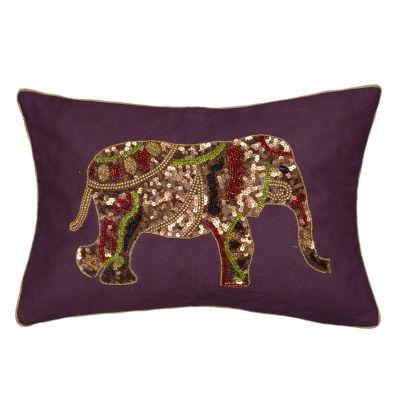 Effie Elephant Rectangular Throw Pillow