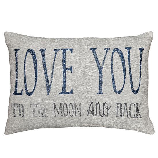 Love You To The Moon Rectangular Throw Pillow