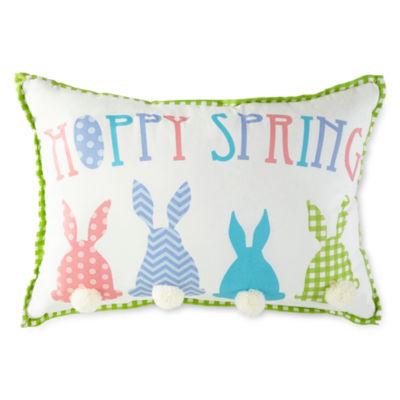 JCPenney Home Hoppy Spring Rectangular Throw Pillow