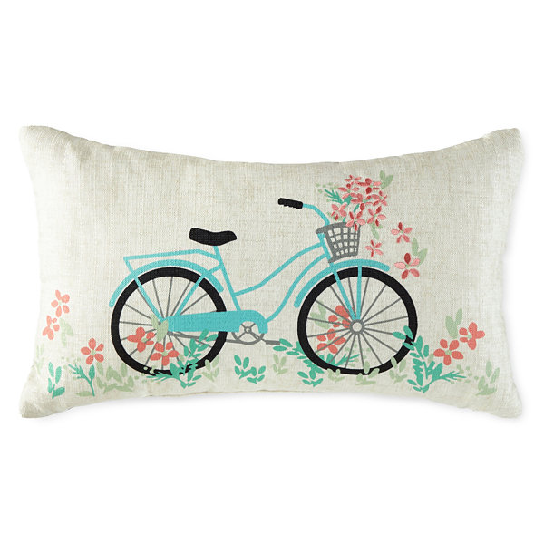 JCPenney Home Bicycle Rectangular Throw Pillow