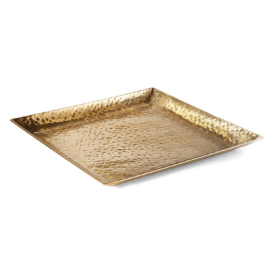 "JCPenney Home 14"" Gold Resort Tray"