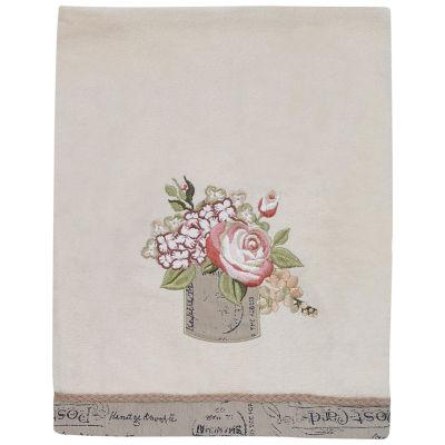 Avanti Antique Bouquet Embroidered Bath Towel Collection
