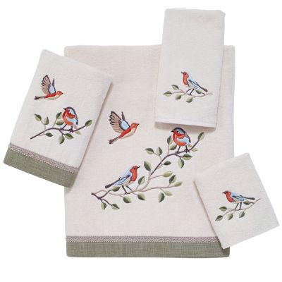 Avanti Bird Choir Embroidered Bath Towel Collection
