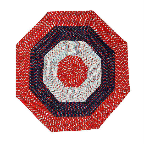Better Trends Country Braid Stripe Octagonal Reversible Rugs
