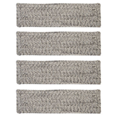 Colonial Mills Blaise Braided Rectangular Reversible Indoor Outdoor Stair Treads