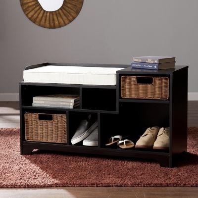 Modern Life Furniture Asymmetrical Storage Bench