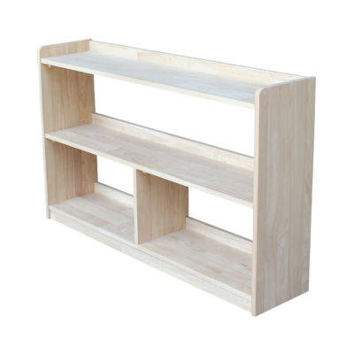 "Abby 30"" Divided Wood Bookcase"