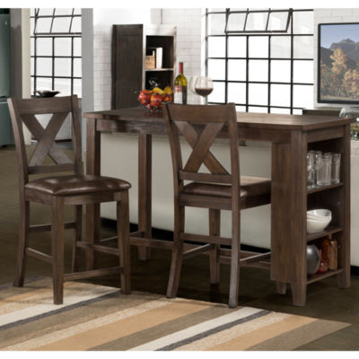 Spencer 3-pc. Counter Height Set with X-Back Stools