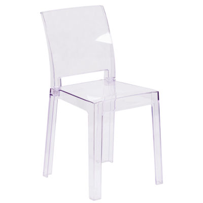 Ghost Chair with Square Back