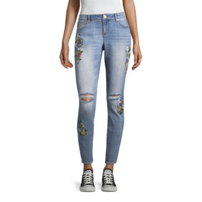 Project Indigo Flower Print Skinny Jean
