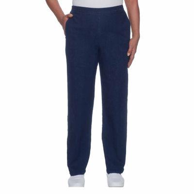 Alfred Dunner Montego Bay Denim Flat Front Pants