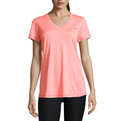 Copper Fit Short Sleeve V Neck Pattern T-Shirt-Womens