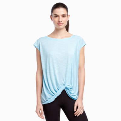 Jockey Short Sleeve Round Neck Tonal T-Shirt-Womens