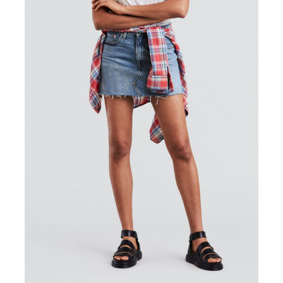 Levi's Mid Length Deconstructed Skirt
