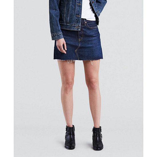 Levi's® Mid Length Denim Skirt