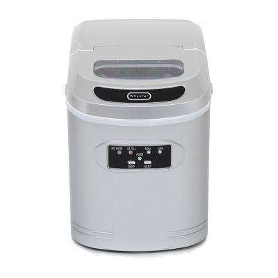 Whynter Compact Portable Ice Maker 27 lb capacity - Metallic Silver