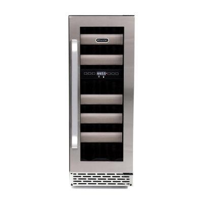 Whynter Elite 17 Bottle Seamless Stainless Steel Door Dual Zone Built-in Wine Refrigerator