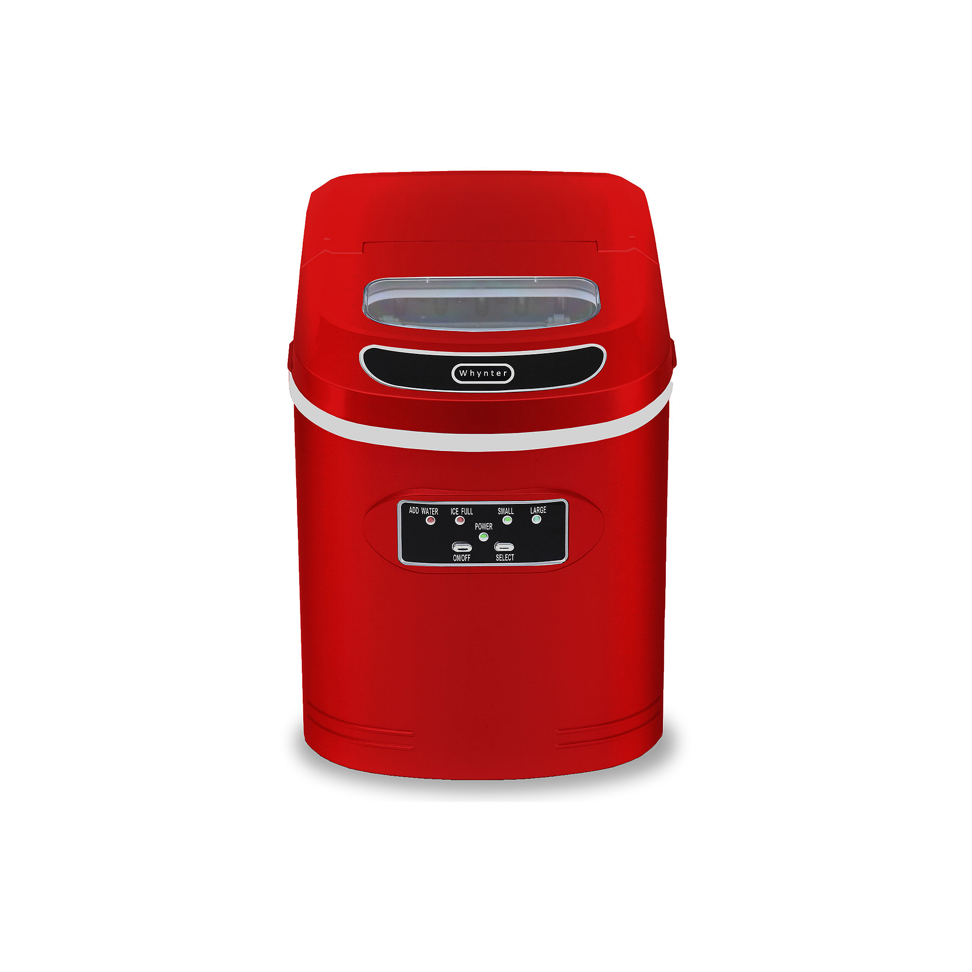 Whynter Compact Portable Ice Maker 27 lb capacity - Red