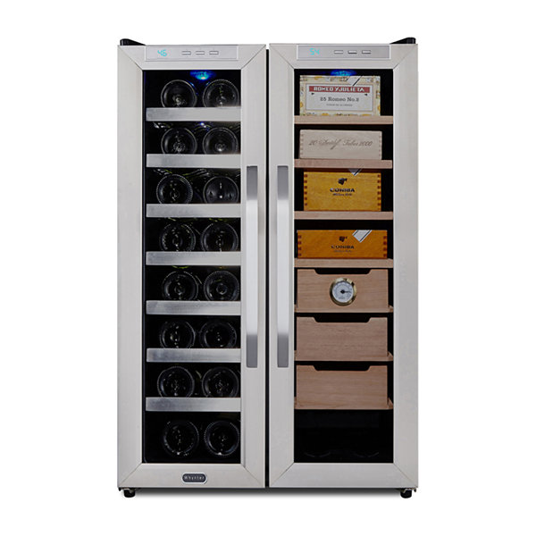 Whynter Freestanding 3.6 cu. ft. Wine Cooler and Cigar Humidor Center
