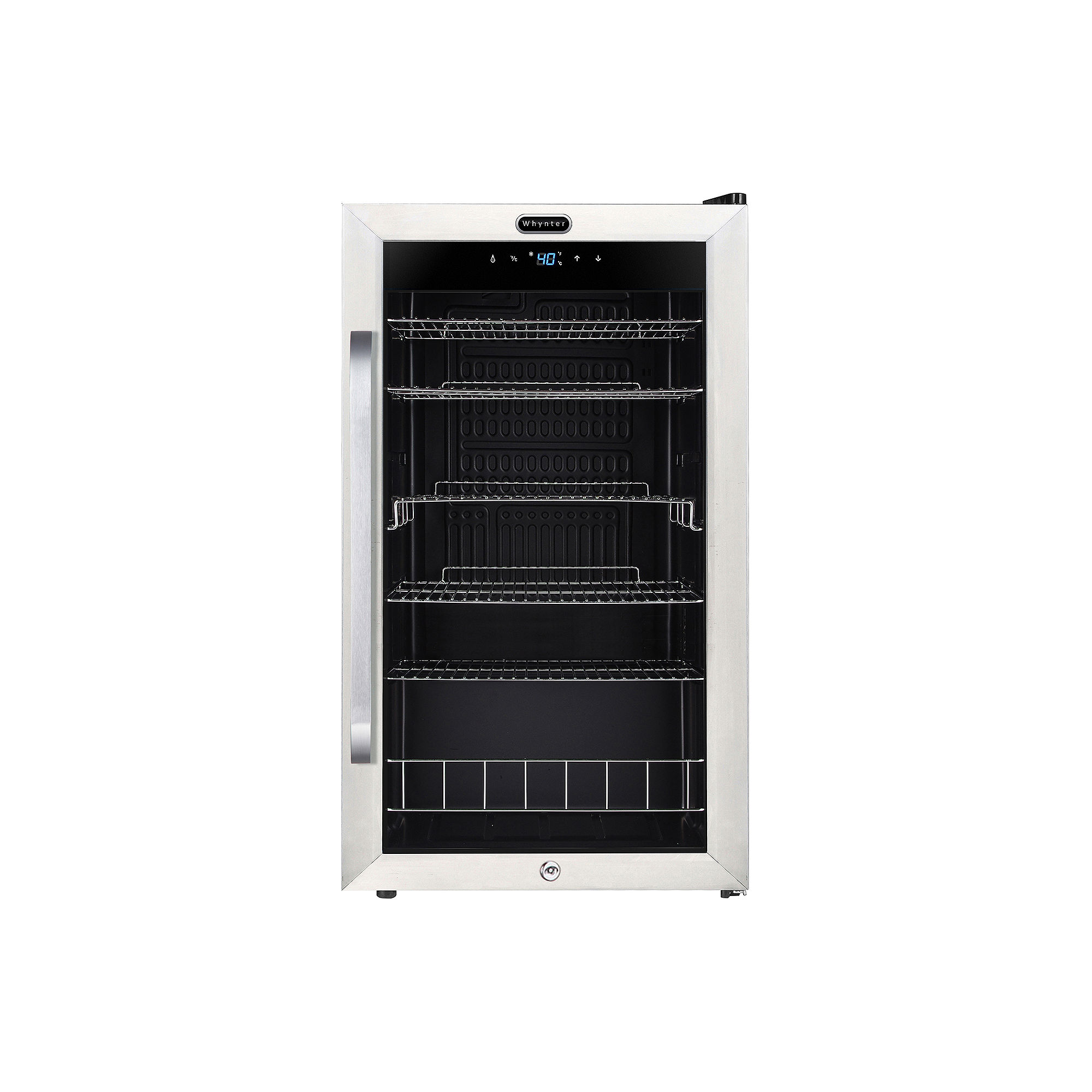 BR-1211DS Whynter Freestanding 121 Can Beverage Refrigerator with Digital Control and Internal Fan