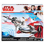 Star Wars The Last Jedi Resistance Ski Speeder Vehicle With Poe Dameron Action Figure