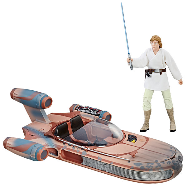 Star Wars The Black Series Luke Skywalker Landspeeder & Figure