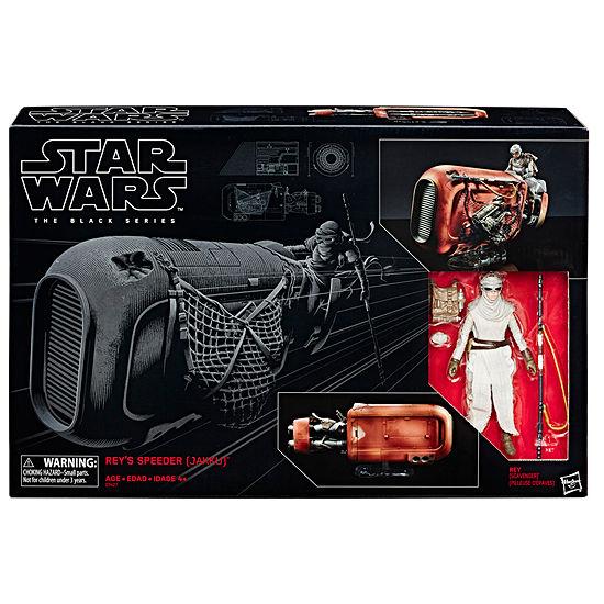 The Black Series Rey'S Speeder (Jakku) And Figure