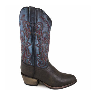 "Smoky Mountain Women's Fusion #1 11"" Vintage Leather Cowboy Boot"