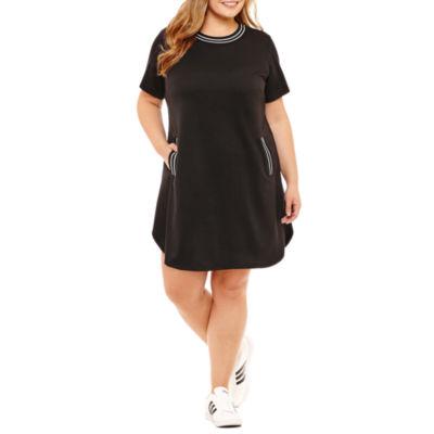 Alyx Short Sleeve Shift Dress - Plus