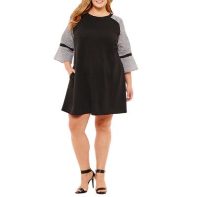 Alyx 3/4 Sleeve Shift Dress - Plus