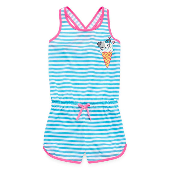 Jelli Fish Kids Jellifish Romper Sleeveless One Piece Pajama-Big Kid Girls