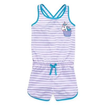 Jelli Fish Kids Jellifish Romper Sleeveless One Piece Pajama-Big Kid Girls