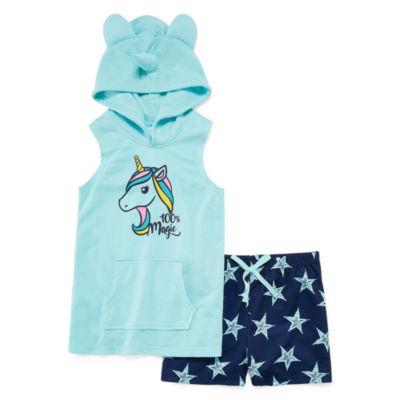 Jelli Fish Kids 2-pack Shorts Pajama Set Girls