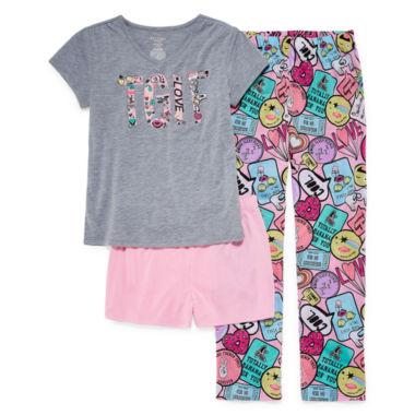 Arizona 3pc.TGIF Pajama Set Girls & Plus