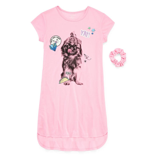 Arizona Short Sleeve Dorm Puppy - Girls 4-16 & Plus