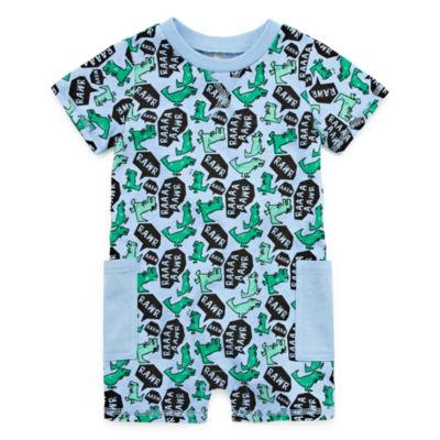 Okie Dokie Dinosaur Short Sleeve Creeper - Baby Boy NB-12M