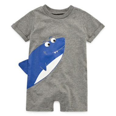 Okie Dokie Shark Creeper - Baby Boy NB-12M