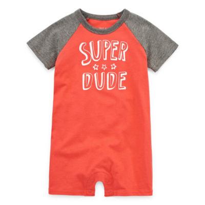 "Okie Dokie ""Super Dude"" Creeper - Baby Boy NB-12M"