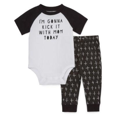 Okie Dokie 2-pc. Bodysuit Set-Baby Boys NB-24M