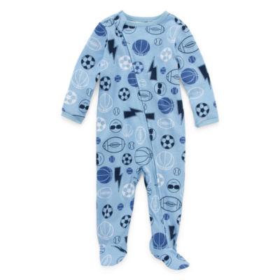 Okie Dokie Sport Print Full Zip Sleep and Play - Baby Boy NB-9M