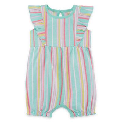 Okie Dokie Multi Stripe Creeper - Baby Girl NB-12M