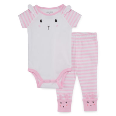 Okie Dokie Princess 2-pc. Bodysuit & Tutu Pant Set-Baby Girls NB-24M